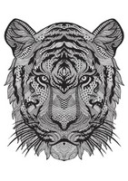 Art Therapy coloring page Tiger