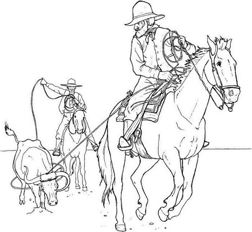 Coloriage Homme Cheval.Coloriages Anti Stress Chevaux