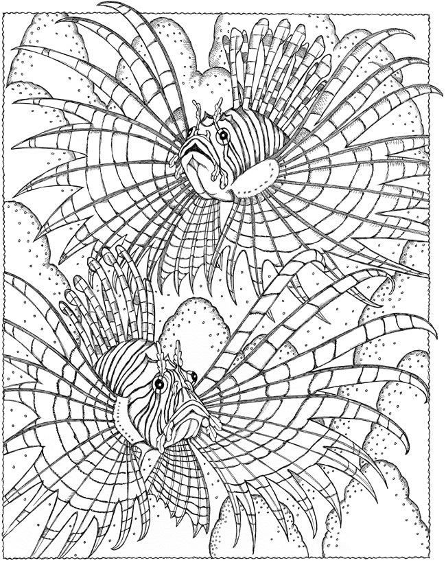 Art Therapy coloring page Fishes