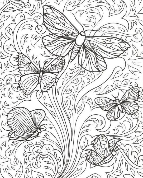 Ausmalen als anti stress schmetterlinge schmetterlinge 5 for Coloring pages of butterflies for adults