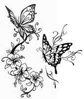 Art Therapy coloring page Butterflies