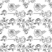 Coloriage anti-stress Fleurs: roses