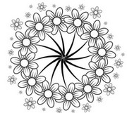 Adult coloring page Flowers: daisies