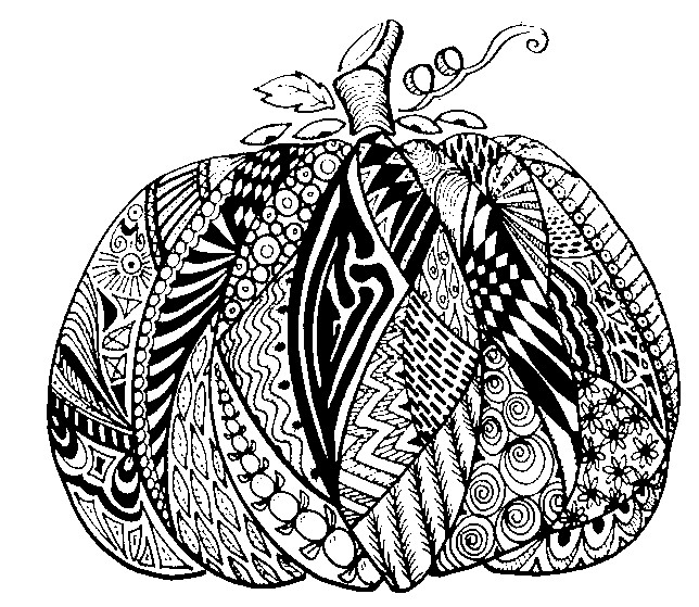Adult coloring pages gt adult coloring pages autumn gt pumpkin