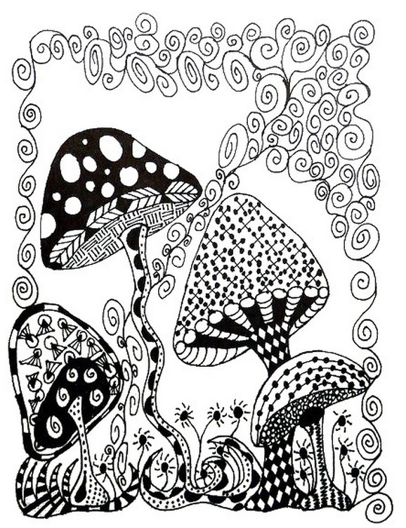 Adult Coloring Page Autumn Squirrel 8