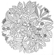 Art Therapy coloring page Mandala Autumn