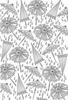 Art Therapy coloring page Umbrellas
