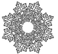 Art Therapy coloring page Mandalas Leaves