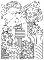 Coloriage adulte Grenouilles