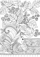 Art Therapy coloring page Mushrooms