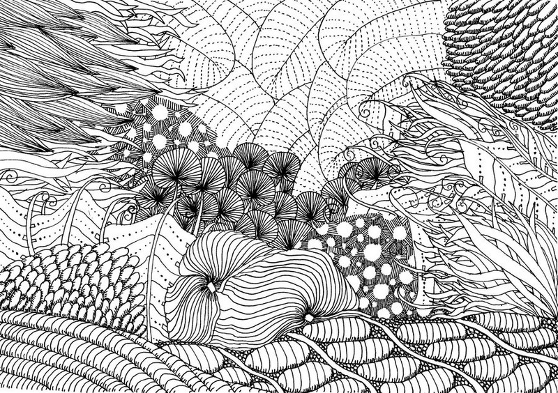 - Art Therapy Coloring Page Summer : Sea Bed 11
