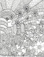 Adult coloring page Sunflowers