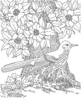 Art Therapy coloring page Bird