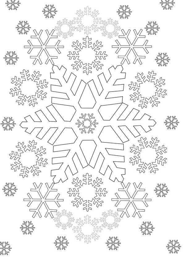 Snowflakes More Coloring Pages Winter