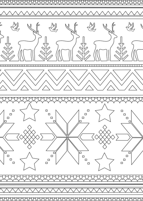 Art Therapy coloring page Winter