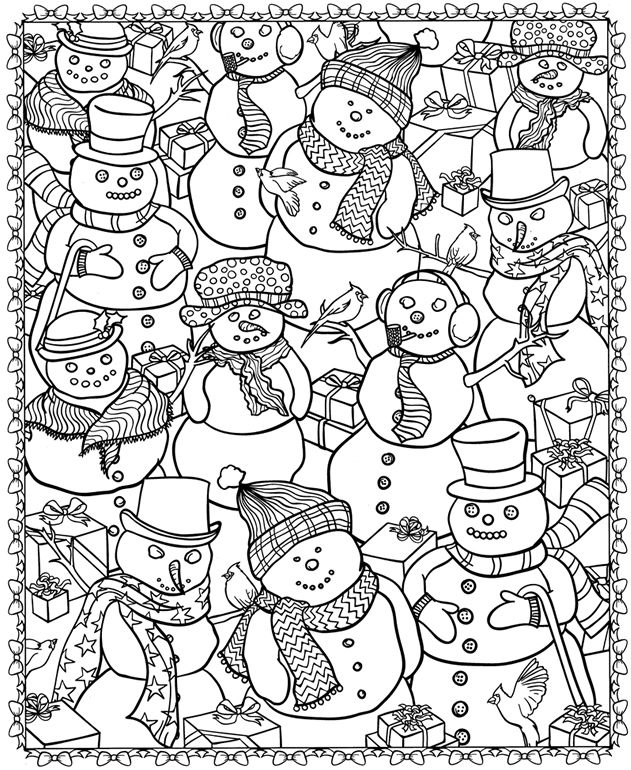 10 Detailed Coloring Pages - Printable Motivating Adult Coloring ... | 770x631