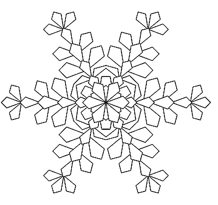 Dibujo Para Colorear Relajante Invierno Copo De Nieve 8