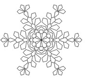Coloriage anti-stress Flocon de neige