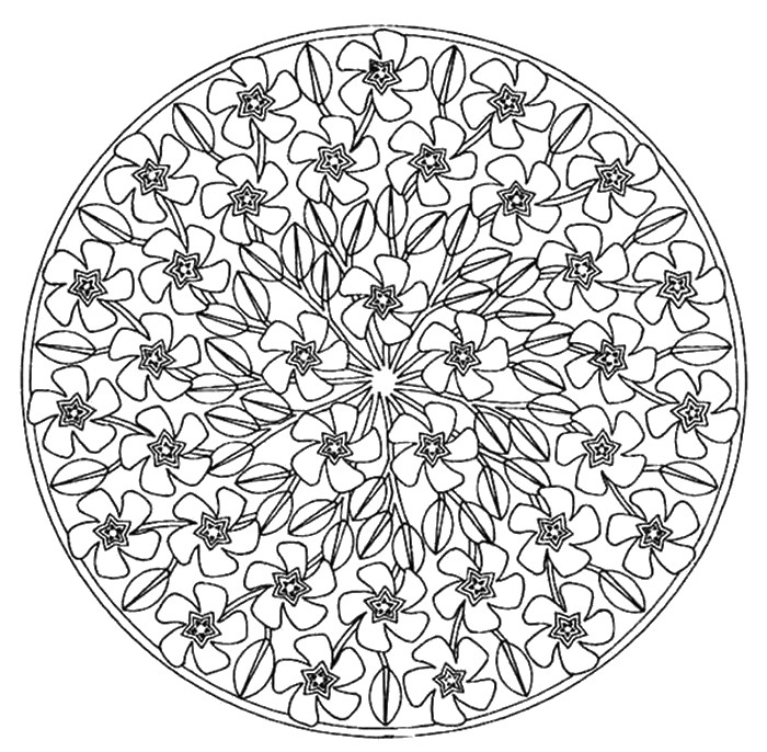 Coloriage Mandala Printemps Maternelle.Coloriages Anti Stress Printemps