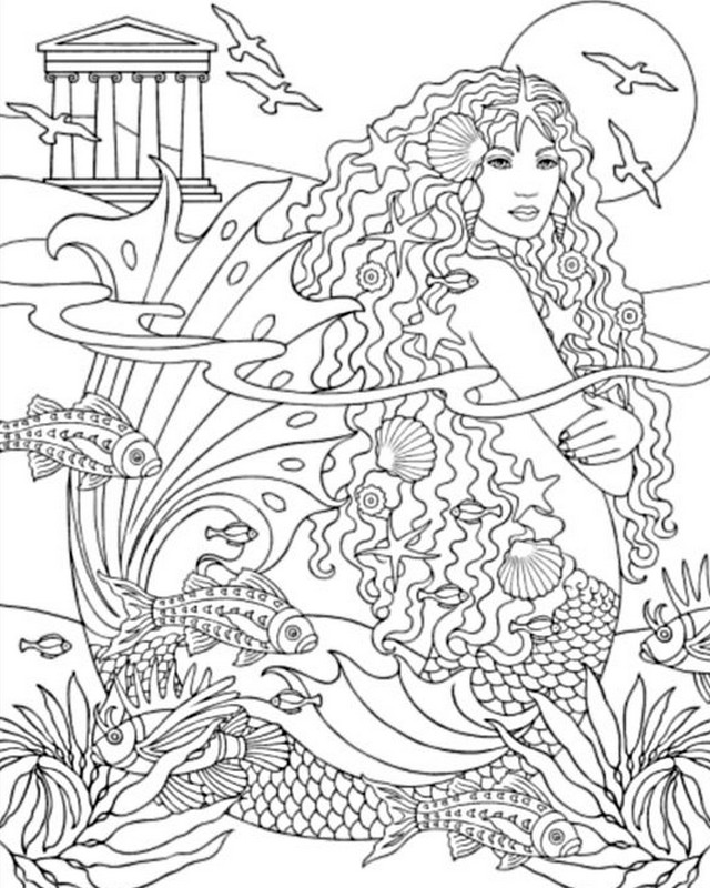 Art Therapy Coloring Page Sea Siren 2