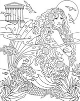 Art Therapy coloring page Siren