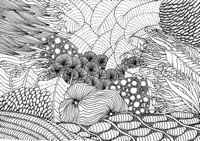 Art Therapy coloring page Sea bed
