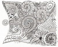 Art Therapy coloring page Shells