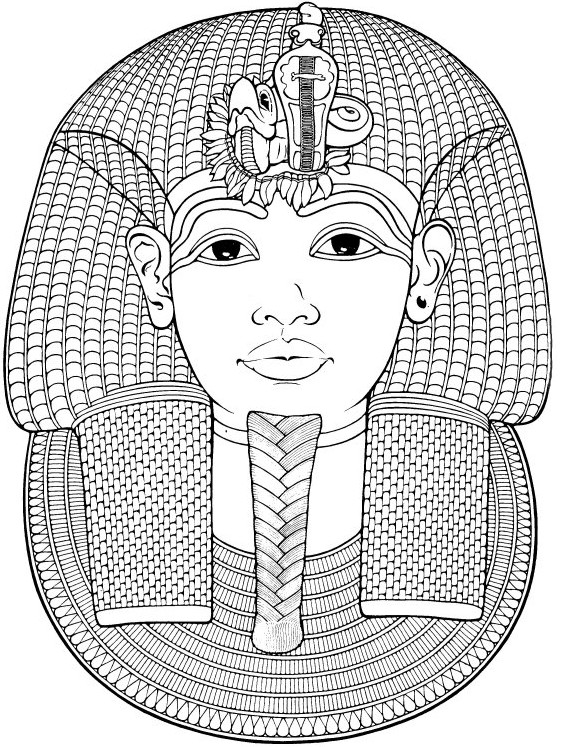 Adult Coloring Page Egypt Egypt Funerary Mask Of