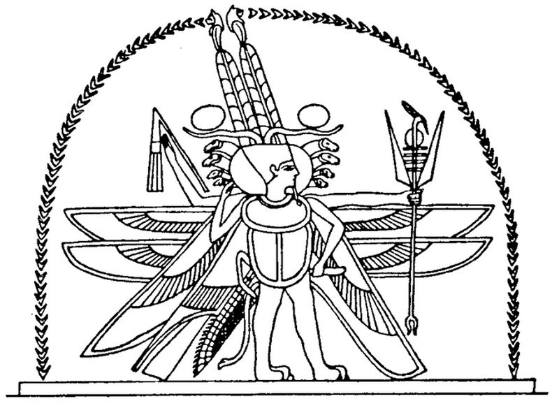 Art Therapy Coloring Page Egypt Egypt Horus God With