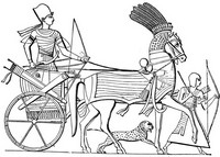 Art Therapy coloring page Egypt: Egyptian war chariot