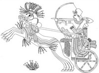 Art Therapy coloring page Egypt: Tutankhamun war against Nubia