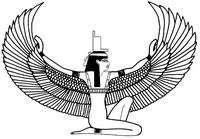 Art Therapy coloring page Egypt: Isis, Egyptian deity
