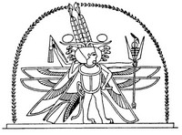 Art Therapy coloring page Egypt: Horus, God with wings and horns