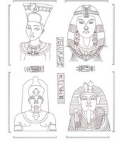 Art Therapy coloring page Egypt: Egyptian Deities