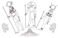 Art Therapy coloring page Egypt: Egyptian Gods