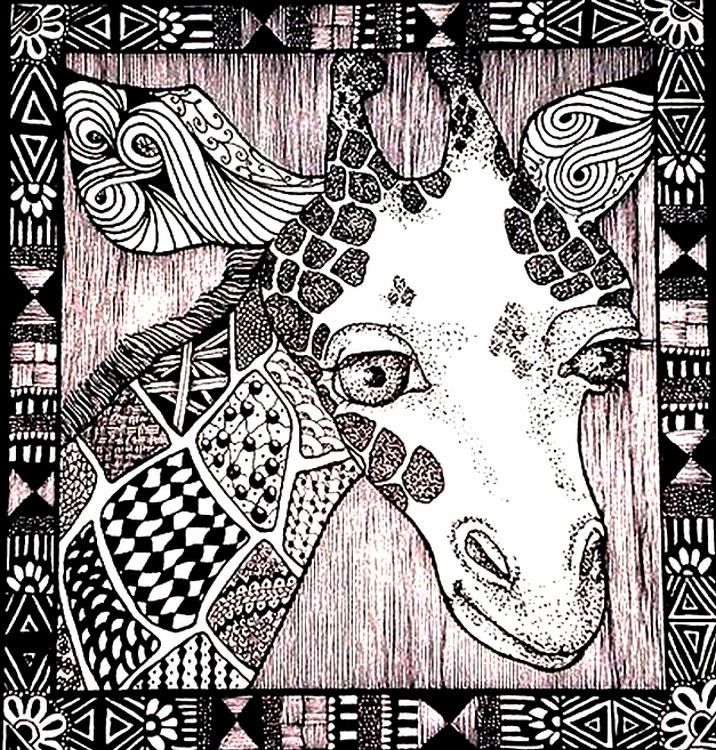 Giraffe Head More Coloring Pages
