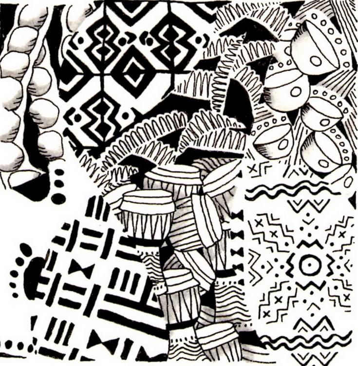 Ausmalen als anti stress afrika tamtam 3 - Coloriage afrique a imprimer ...