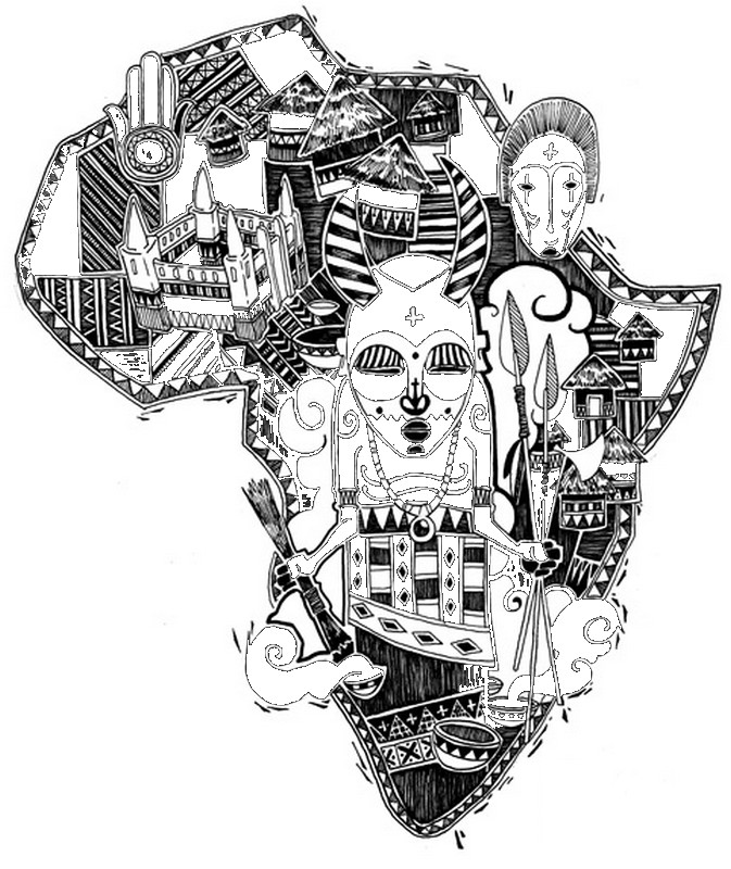 Adult Coloring Page Africa 5