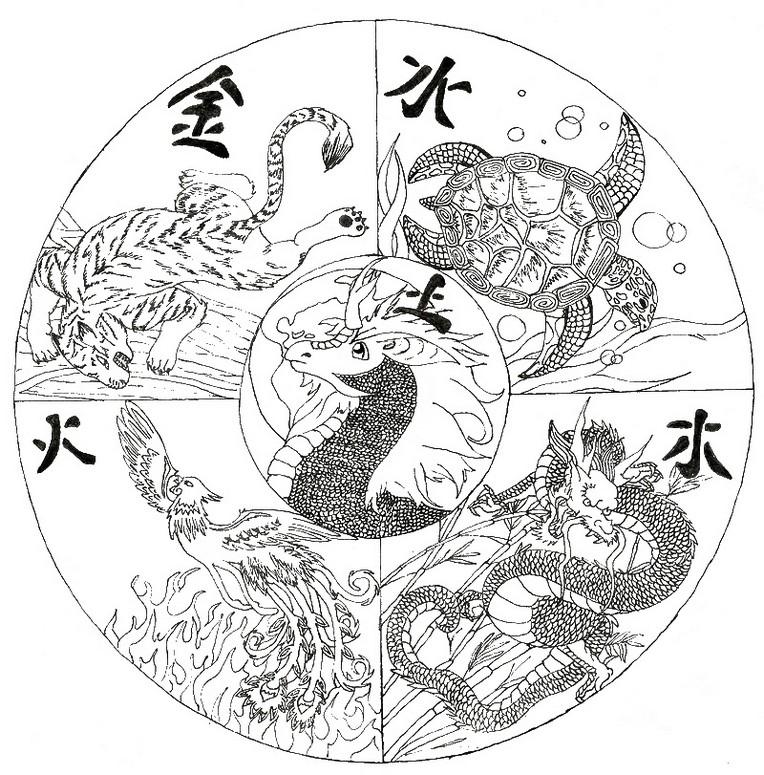 ausmalen als anti-stress china : mandala 15