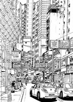 Art Therapy coloring page Chinese Street