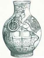 Art Therapy coloring page Chinese Vase