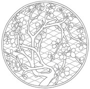 Art Therapy coloring page Chinese garden