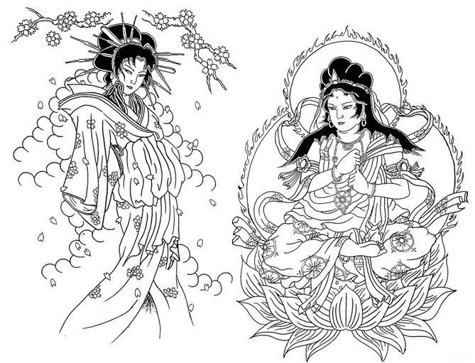 Art Therapy coloring page Japan