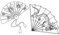 Art Therapy coloring page Japanese fans