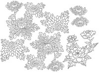 Art Therapy coloring page Japan: flowers