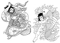Coloriage anti-stress Japon