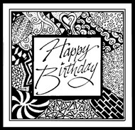 Art Therapy coloring page Happy Birthday!