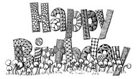 Art Therapy coloring page Happy Birthday