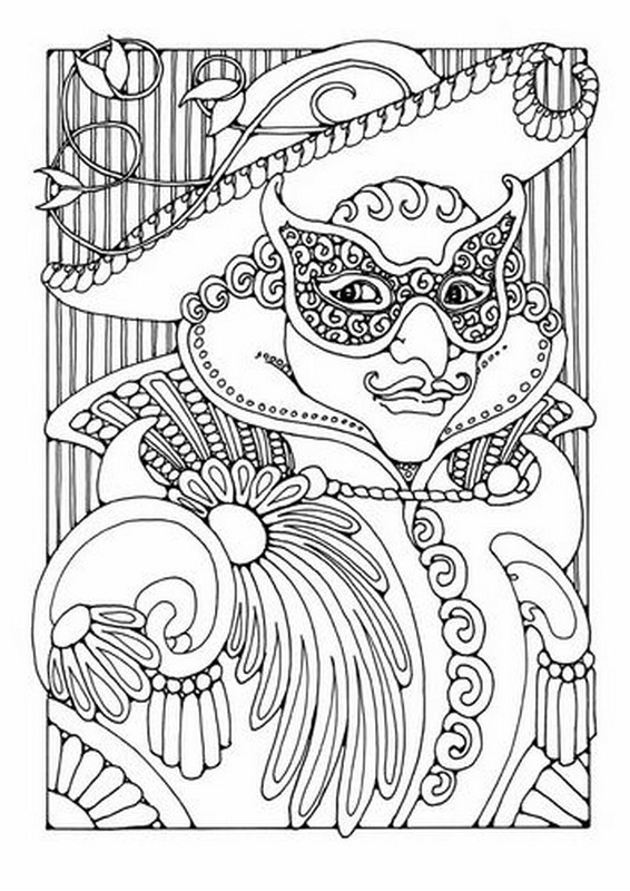 Art Therapy coloring page Carnival