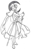 Coloriage adulte Costume lune